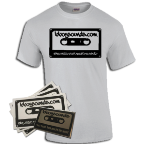 Bboy T-Shirt White with stickers and buttons from Bboysounds